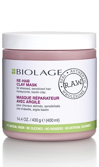 natural haircare biolage raw recover for damaged hair mask